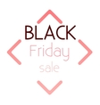 Logo Black Friday sale vector image