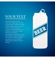 Beer Can flat icon on blue background vector image