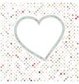 Lovely pink blue polka dots heart frame EPS 8 vector image vector image