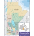 Map of Manitoba vector image