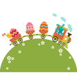 Easter travel vector image vector image