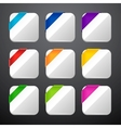 Set of the app icons with ribbons vector image vector image