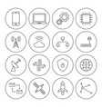 technology digital thin line icon set vector image