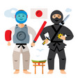 japan sport people flat style colorful vector image
