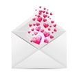 Valentines Day Card with Envelope and Heart vector image