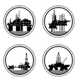 Oil platforms vector image vector image