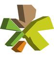 3d ASTERISK symbol vector image vector image