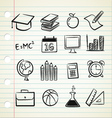 sketchy education vector image vector image