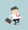 businessman running with his briefcase vector image vector image