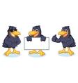 Crow Mascot happy vector image