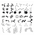 Molecules on the white background vector image