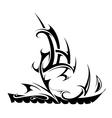 Ship tattoo shape vector image