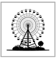 Silhouette of a ferris wheel in the park vector image