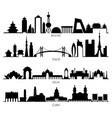 skyline silhouette with city landmarks beijing vector image