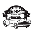 Vintage cars sale Retro car icon Car repair vector image
