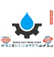 Water Service Flat Icon With 2017 Bonus Trend vector image