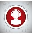 man headphone button music sound vector image