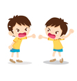 boy angry shouting vector image
