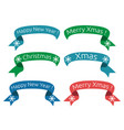christmas new year ribbons vector image