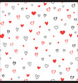 love heart seamless pattern valentines day vector image