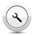 Button with Wrench vector image