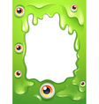 An empty template with eyeballs vector image vector image