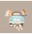 Just married car vector image