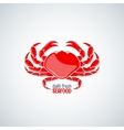 crab seafood menu background vector image