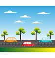 Street background vector image