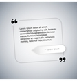 Simple Quote Template vector image vector image