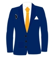 Blue suit and tie vector image