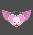 Soldiers love army logo and emblem White skull and vector image