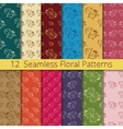 Hand Drawn Floral Seamless Pattern Set vector image