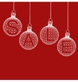 Christmas ball Design Sale Shopping offers vector image