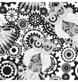 Black gears steampunk seamless pattern Steampunk vector image