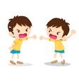 boy angry shouting vector image