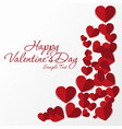 frame of red hearts on valentine s day empty vector image