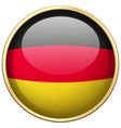 Germany flag on round badge vector image