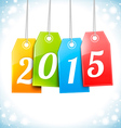 Happy New 2015 Year Greetings Card vector image