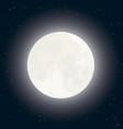 moon and stars on dark sky vector image