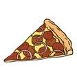 Pepperoni Pizza Slice vector image