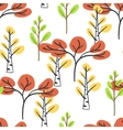 Seamless pattern with autumn trees vector image