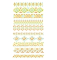 set of abstract geometric line patterns vector image