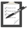 abstract list icon with pen on business them vector image