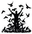 pigeon man vector image