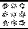 Set of graphical flowers vector image
