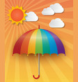 sunny sky background vector image