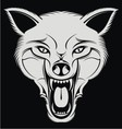 White Angry Wolf Head vector image vector image