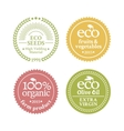Collection of 4 badges in retro style vector image