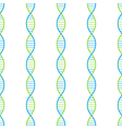 DNA seamless background vector image vector image